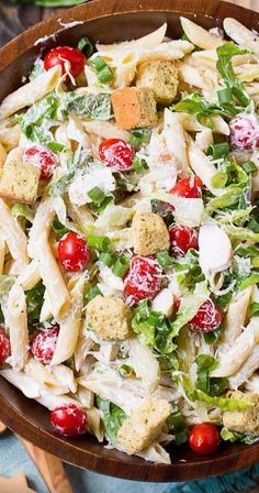 Chicken Caesar Pasta Salad - Spicy Southern Kitchen