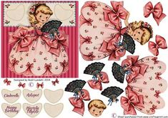 Cinderella on Craftsuprint designed by Bodil Lundahl - Isn't she just adorable