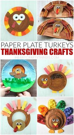These paper plate Thanksgiving crafts are simple, fun and perfect for Thanksgiving arts and crafts time. Fun paper plate turkey crafts for kids. Arts And Crafts For Adults, Easy Arts And Crafts, Fun Crafts For Kids, Toddler Crafts, Simple Crafts, Toddler Preschool, Simple Diy, Arts And Crafts Interiors, Arts And Crafts Furniture