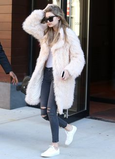 Gigi Hadid is seen out and about in New York City, New York on March 18, 2016.