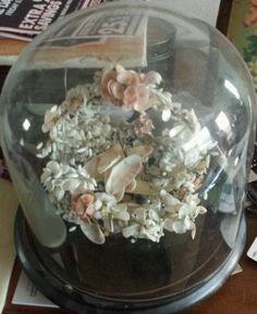 Victorian sea shell basket