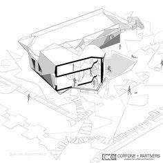 CORFONE+PARTNERS - Axonometric view - BA2 HOUSE
