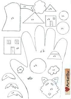 Felt Puppet Template Monkey Finger Templates Free Documents Pdf Felt Puppets, Felt Finger Puppets, Paper Puppets, Hand Puppets, Puppet Crafts, Felt Crafts, Finger Puppet Patterns, Quiet Book Templates, Templates Free