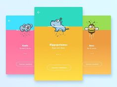 Guide Page Animal Version 2 by Regan Jiang for PPTV Design  #app, #appdesign, #ios9, #ios, #flatdesign, #android, #ui, #userinterface, #design, #designer, #iosapp, #iphone, #iphoneapp, #concept, #ux #GraphicGang