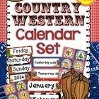Calendar+Set+{Country+Western}  Bring+the+country+to+your+classroom+this+year+with+this+delightful+calendar+set+in+a+country+western+style+theme.+ ...