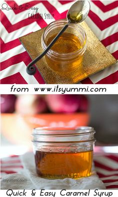 CARAMEL SIMPLE SYRUP from @It's Yummi! (Cooking with Chef Bec). This stuff is AMAZING over pancakes, in baked goods... or to make the perfect burnt whiskey sour!  Get the recipe here: http://www.itsyummi.com/quick-easy-caramel-syrup/