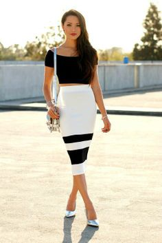 WE HEART FASHION: Modern Black, White And Silver