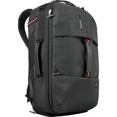 Buy the SOLO All-Star Hybrid Backpack at eBags - Carry clothing, shoes, and personal items for the daily commute or occasional travel inside this rug Backpack Reviews, Backpack Brands, Backpack Online, Destination Voyage, Backpack Straps, Cool Things To Buy, Stuff To Buy, A 17, Black Backpack