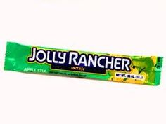 Yummo ~ Jolly Rancher green apple candy stick