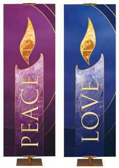 Colors of Liturgy Advent Candle Banners