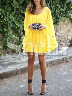Kleid+mit+Schößchen+Saum+-+gelb+27.15
