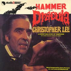 "Christopher Lee in the title role in the 1958 Hammer Films production of ""Dracula""."