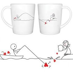 "BoldLoft ""Catch My Heart"" Couple Coffee Mugs-Romantic Valentine's Day Gifts for Couples, Cute Valentines Gifts for Him or Her, Romantic Anniversary Gifts: Home & Kitchen: Amazon.com"