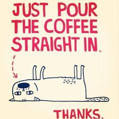 Hahaha! #funny #coffee