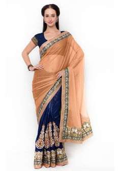 Green And Blue Colored Lycra Partywear Saree. For more information :- Call us (Whatsapp Available) Silk Sarees With Price, Pure Silk Sarees, Indian Sarees Online, Silk Sarees Online, Latest Saree Trends, Peach Saree, Designer Sarees Online Shopping, Traditional Silk Saree, Designer Silk Sarees