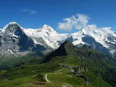 Eiger, Mönch and Jungfrau from Männlichen, Switzerland; I stayed in Murren right across from Jungfrau..want to go back!