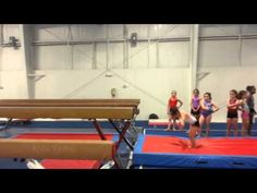 Maddy reid Backhandspring series full twisting dismount beam - YouTube