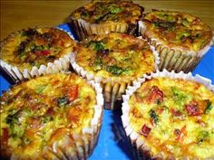 quiche-muffins, will try substituting almond milk for the half and half and Daiya cheese for the real. Quiche Muffins, Breakfast Quiche, Low Carb Breakfast, Breakfast Dishes, Breakfast Recipes, No Carb Recipes, Muffin Recipes, Brunch Recipes, Healthy Recipes