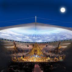 Concorso internazionale per la copertura dell'Arena di Verona. Secondi Classificati. Studio di architettura Maffioli e Ruggeri. www.maffioliruggeri.com