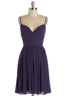 Looking Red Haute Dress in Violet. Youll be ready for a night on the town as soon as you don this misty purple dress! #gold #prom #modcloth