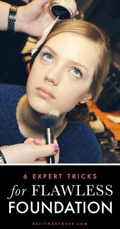 6 Tricks for Flawless Foundation how to get flawless foundation – tips from celeb makeup artist Troy Jensen 6 Foundation Foundation Tips From Lazy Girl Beauty Hacks Beauty Make-up, Beauty Secrets, Beauty Hacks, Hair Beauty, Beauty Tips, Natural Beauty, Eye Makeup, Makeup Tips, Clown Makeup