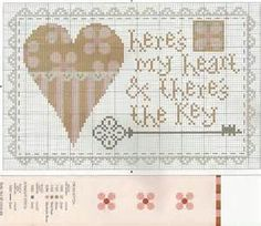 cross stitch word hearts - Bing Images