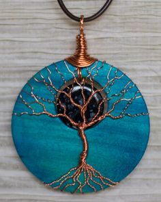 Tree of Life pendant Copper Wire Wrapped by RecycledBeautifully
