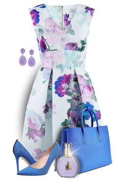 """""""* FLORAL SKATER DRESS *"""" by hrfost1210 ❤ liked on Polyvore featuring Closet, Steve Madden, SJP and Lanvin"""