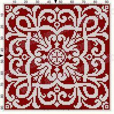ru / Фото # 193 - Le Filet Ancien au Point de Reprise V - gabbach - # . Cross Stitch Borders, Cross Stitch Designs, Cross Stitching, Cross Stitch Embroidery, Cross Stitch Patterns, Crochet Cross, Crochet Motif, Knitting Charts, Knitting Stitches