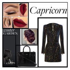 """Capricorn"" by princess-erika15 ❤ liked on Polyvore featuring Balmain, Tamara Mellon, Yves Saint Laurent, women's clothing, women's fashion, women, female, woman, misses and juniors"