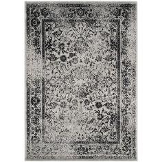 Safavieh Adirondack Vintage Distressed Grey / Black Rug (8' x 10')