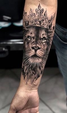 48210745 5 Reasons Why You Should Get a Tattoo Today, millions of people have tattoos. From … en 2020 Lion Forearm Tattoos, Lion Hand Tattoo, Bull Tattoos, Mens Lion Tattoo, Leo Tattoos, Couple Tattoos, Animal Tattoos, Body Art Tattoos, Hand Tattoos