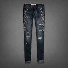 Womens A&f Super Skinny Jeans   Womens Jeans   Abercrombie.com