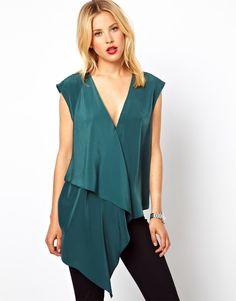emerald ruffle tunic