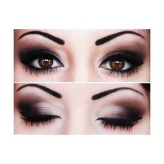 smokey eye makeup... never done makeup this dark but I would try it at night time for a dressy event.