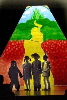 Image detail for -... play they were doing the wizard of oz the background was the yellow
