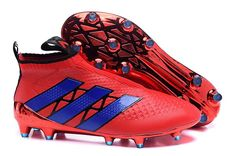 adidas ACE 16+ PureControl FG-AG (blue red) Kids Football Boots 4551798e8a26d