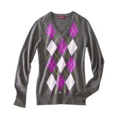 Merona v-neck argyle sweater