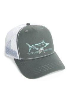 6544e74b Guy Harvey Men's Tight Line Trucker Hat - Charcoal - One Size Charcoal,  Baseball Hats