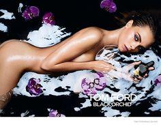"Tom Ford ""Black Orchid"" fragrance FW 2014, Cara Delevingne by Mario Sorrenti"