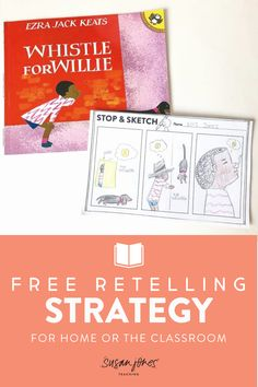 Stop and Sketch is my favorite retelling strategy to use in kindergarten and first grade classrooms! Head over to this blog post to grab the free sheet along with 4 other fun and free comprehension strategies and activities!