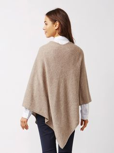 Soft Goat Women's Plain Poncho Taupe Bell Sleeves, Bell Sleeve Top, Goat, Taupe, Pullover, Spring, Sweaters, Fashion, Moda