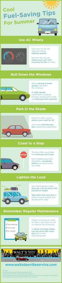What can you do to save fuel this summer? Start by parking in the shade to keep the cabin cool and reduce your need for AC! Take a look at this San Ramon auto maintenance infographic to find other tips to keep you and your car cool this season.
