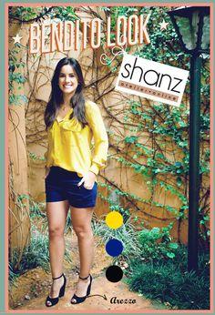 Bendito Look - Azul Marinho - by Shanz - Bendita Inspiração #short #azulmarinho #shanz #arezzo