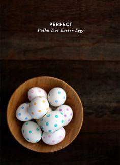 Perfect Polka Dot Easter Eggs