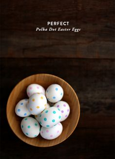 Making polka dot eggs seems like the perfect spring activity, whether you celebrate Easter or not. You might remember my trick for making perfect polka dots from a couple weeks ago. I've used the s...