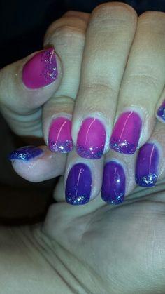 Termo-gel violett / Pink mit glitter
