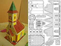 The great Hungarian designer Somodi Zoltan shares with us a new paper model a Hungarian Church. O grande designer húngaro Somodi Zoltan. Christmas Village Houses, Putz Houses, Christmas Villages, Mesh Christmas Tree, Christmas Paper, Christmas Crafts, Advent House, House Template, Glitter Houses