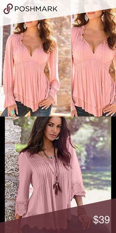 NEW ARRIVAL ADORABLE PINK TOP, FOR SPRING  Gorgeous pink top top  with covered fabric buttons   on the order were medium also however they haven't arrived yet . ❤️❣️ L FASHIONS Tops Tees - Long Sleeve