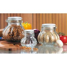 Have to have it. Global Amici Meloni Jars - Set of 3 - $27.99 @hayneedle